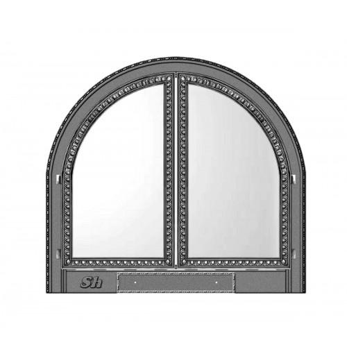 4.Камин с дверцами со стеклом