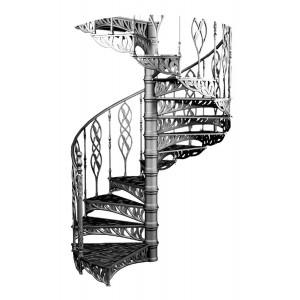 "Винтовая лестница ""Ива"""
