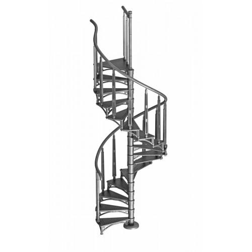 """Винтовая лестница """"Октавия 1"""" с подступенками и косынками"""